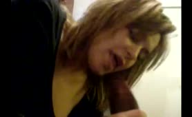 Provocative white young lady sucks, rides and makes bbc cum quick