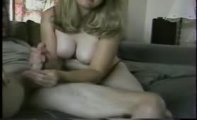 Milf wants to rub his cum all over her face